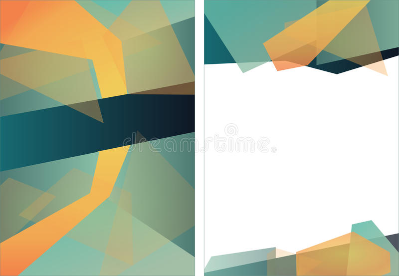 抽象三角小册子飞行物设计版面模板 向量例证