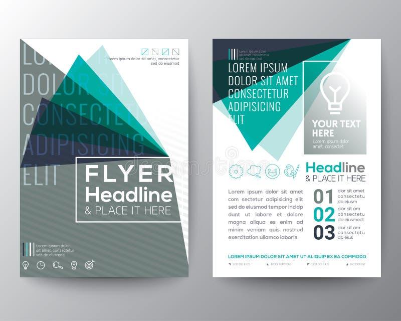 抽象三角形状海报小册子飞行物设计版面 库存例证