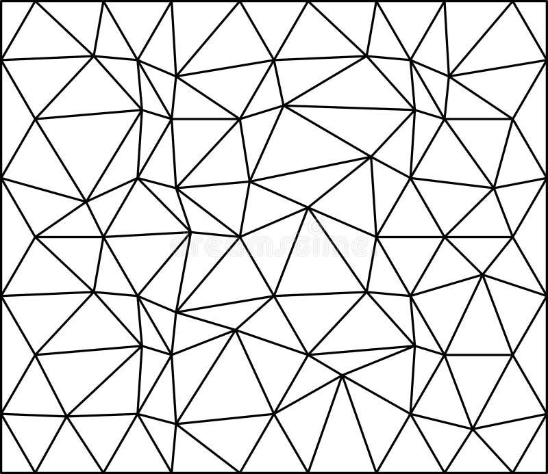 抽象三角无缝的样式墙纸背景设计 向量例证