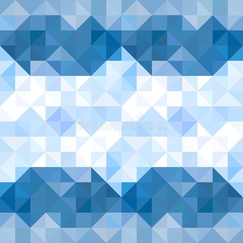 抽象三角样式背景 水和天空几何b 向量例证