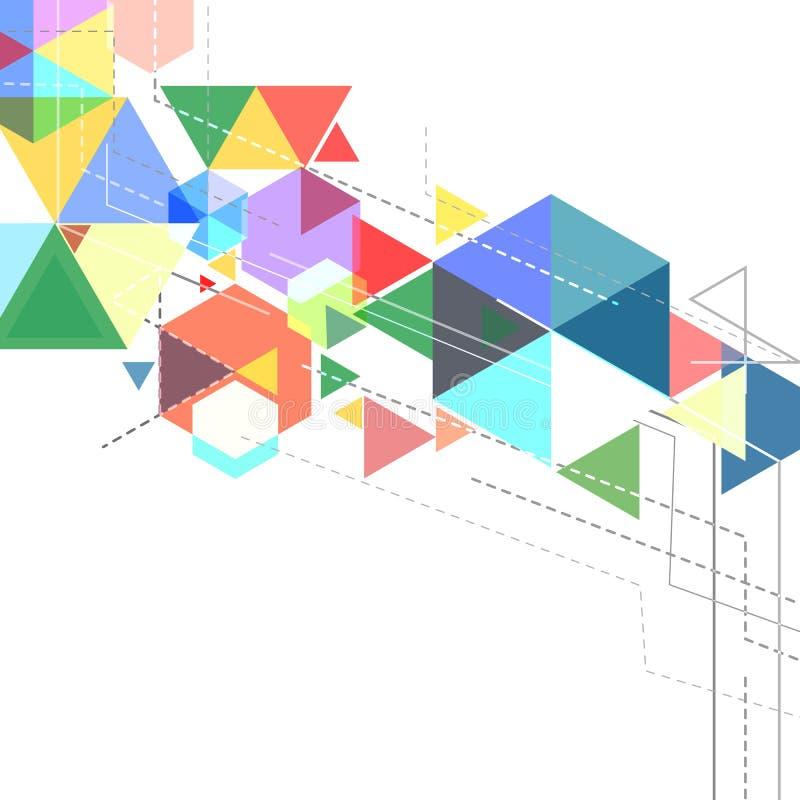 抽象三角横幅设计 向量例证
