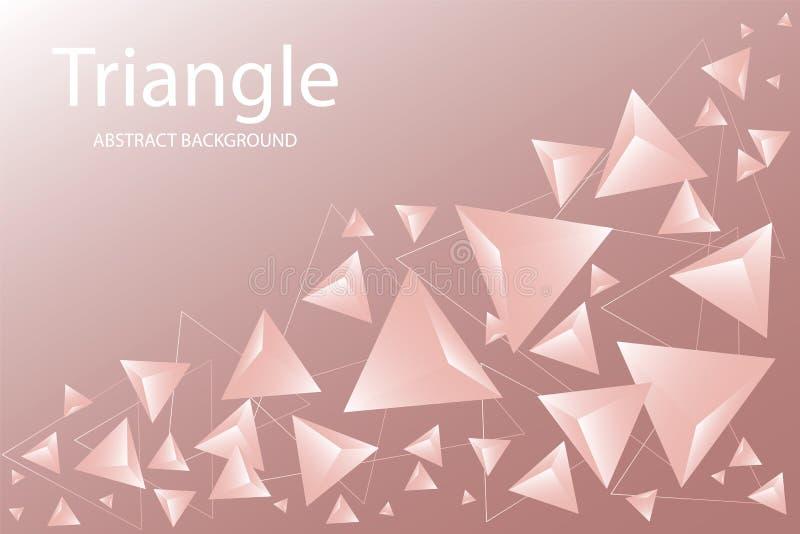 抽象三角背景 3D?? 现代墙纸 r 库存例证