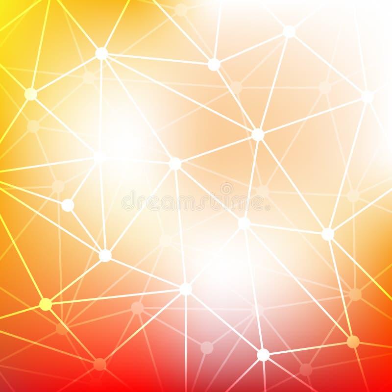 抽象三角马赛克梯度背景 库存例证