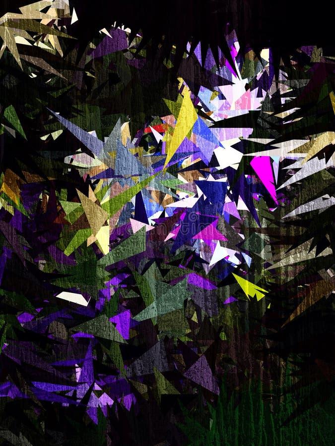 抽象三角紫色绿色白色蓝色多角形墙纸 图库摄影