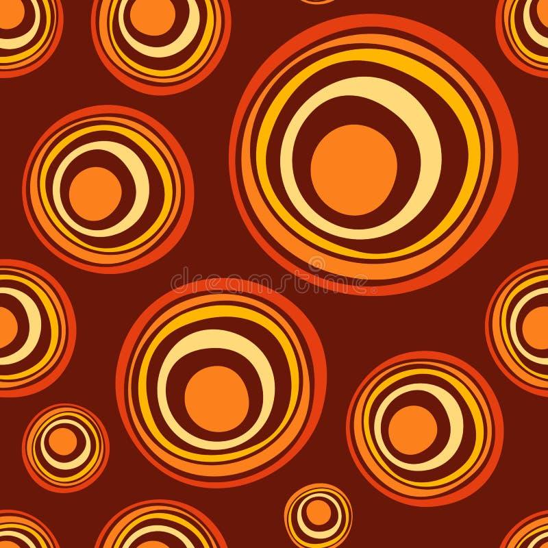抽象不对称的圈子无缝的样式 向量例证