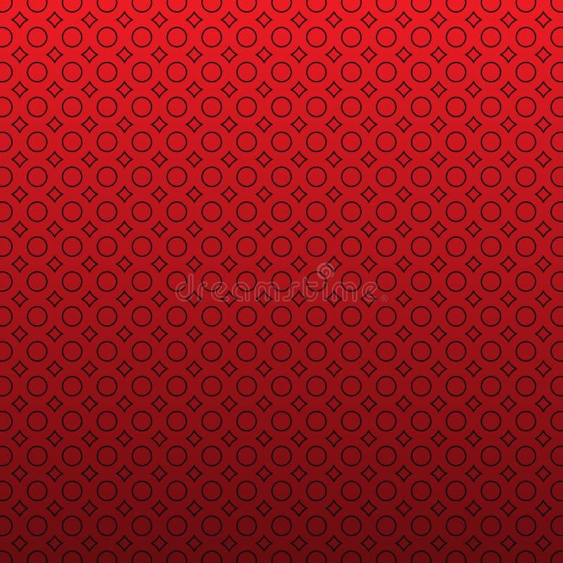 抽象不尽的几何纹理,相称格子,重复瓦片 简单的最低纲领派红色背景 向量例证