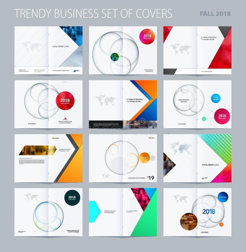 抽象与五颜六色的层数的二重页小册子物质设计样式烙记的 企业传染媒介介绍 向量例证