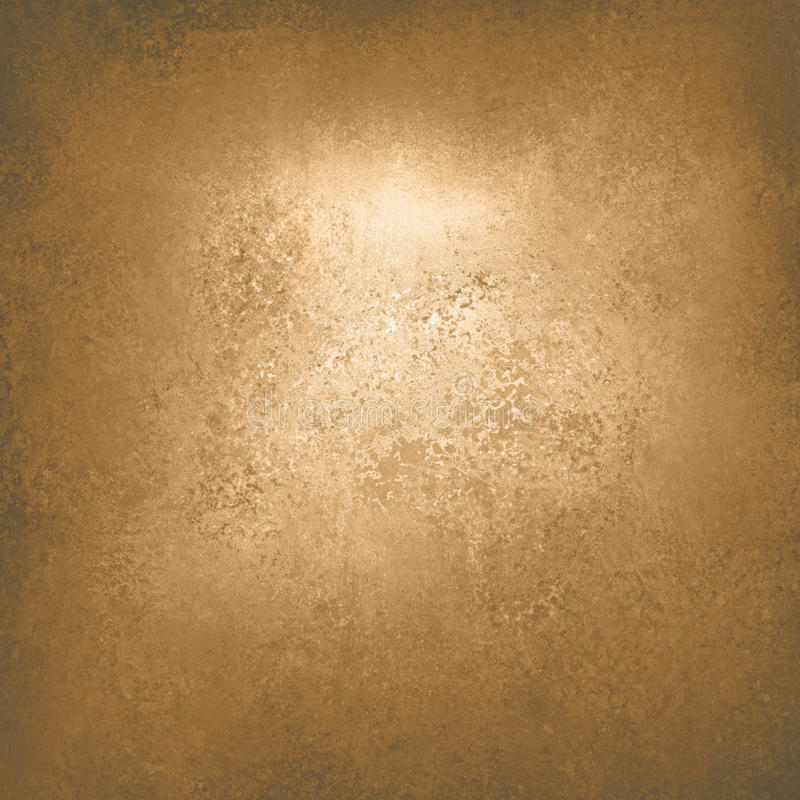 抽象与典雅的古色古香的油漆的金背景豪华富有的葡萄酒难看的东西背景纹理设计在墙壁例证为 免版税库存照片