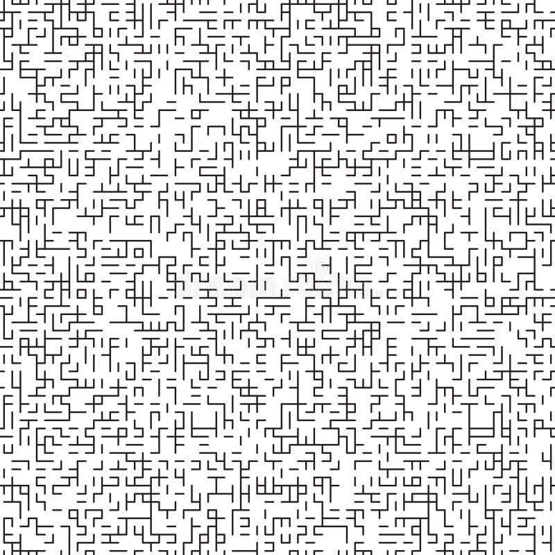 抽象与迷宫纹理的传染媒介无缝的样式 库存例证