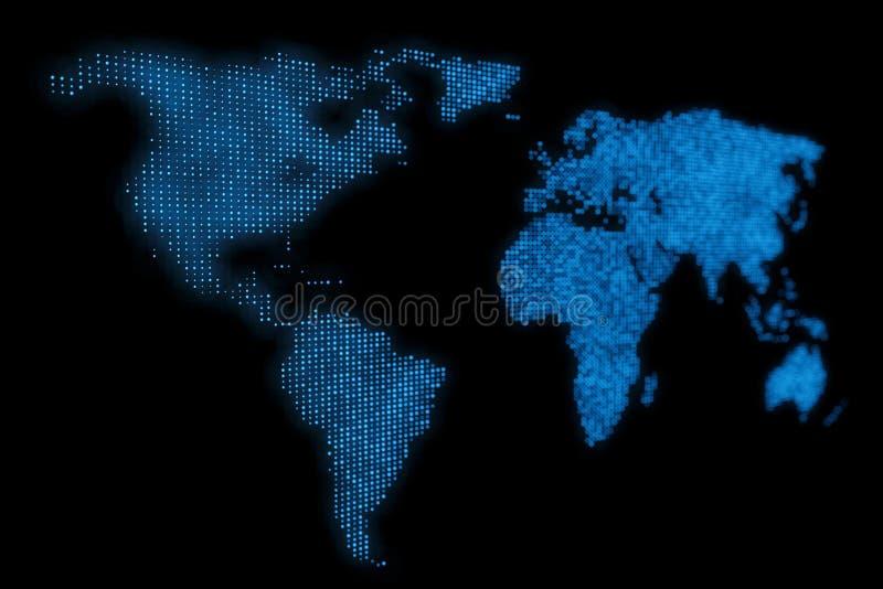 抽象世界地图设计背景 向量例证