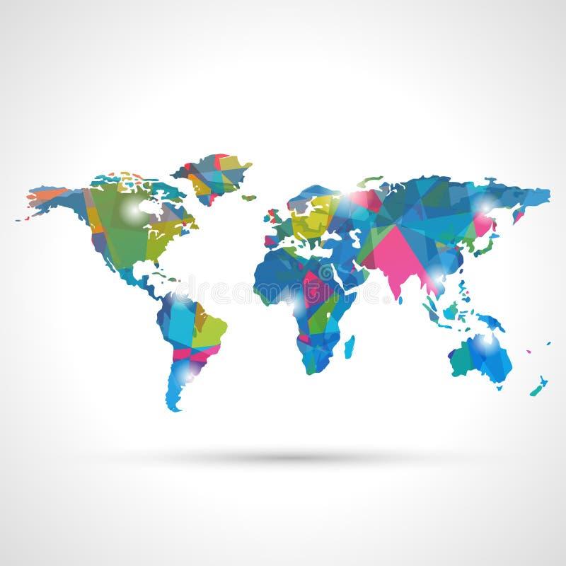 抽象世界地图 库存例证