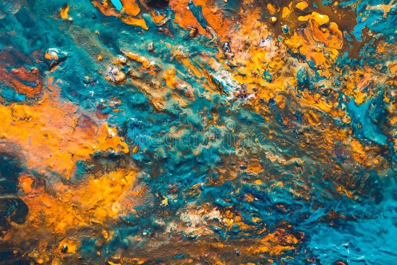 抽象丙烯酸漆背景绘画的技巧混合 皇族释放例证
