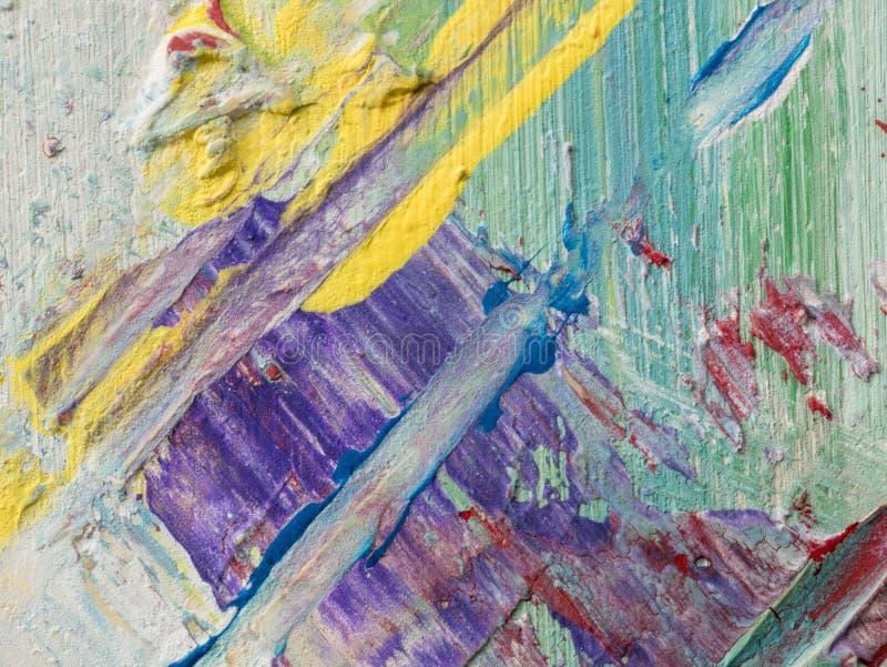 抽象丙烯酸酯和水彩绘画 帆布纹理backgro 免版税库存图片