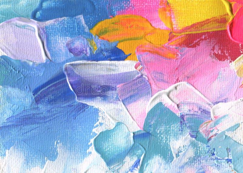 抽象丙烯酸酯和水彩绘画 帆布纹理backgro 库存图片