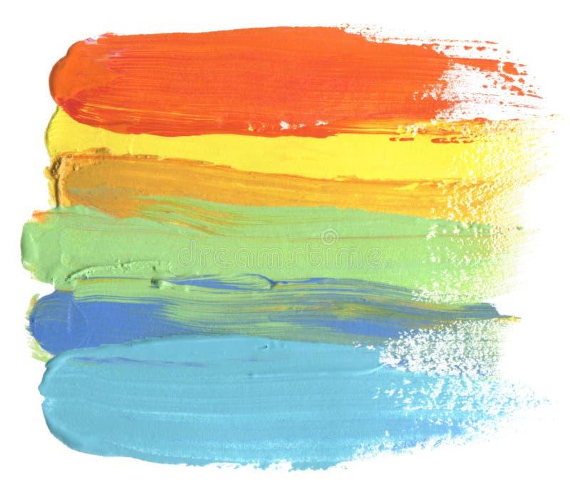 抽象丙烯酸酯和水彩掠过冲程被绘的背景 图库摄影
