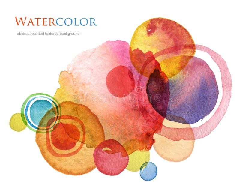 抽象丙烯酸酯和水彩被绘的背景 向量例证