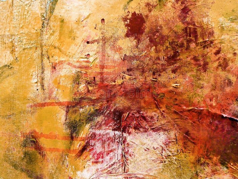 抽象丙烯酸酯的绘画 库存图片