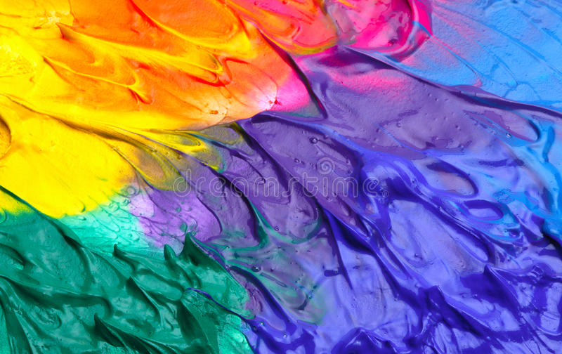 抽象丙烯酸酯的背景油漆 图库摄影