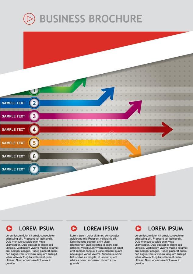 抽象业务报告盖子设计,在A4 siz的传染媒介模板 皇族释放例证