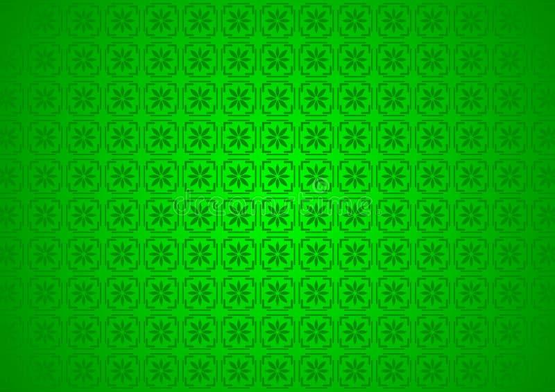抽象东方装饰花卉中国阿拉伯,伊斯兰教,绿色样式纹理背景 Imlek,赖买丹月,节日墙纸 皇族释放例证