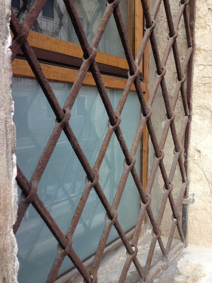 抽象中世纪禁止的窗口 免版税图库摄影
