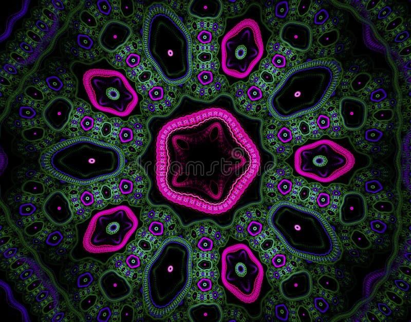 抽象中心盘绕颜色分数维颜色图象主要彩虹严格的鞭子 皇族释放例证