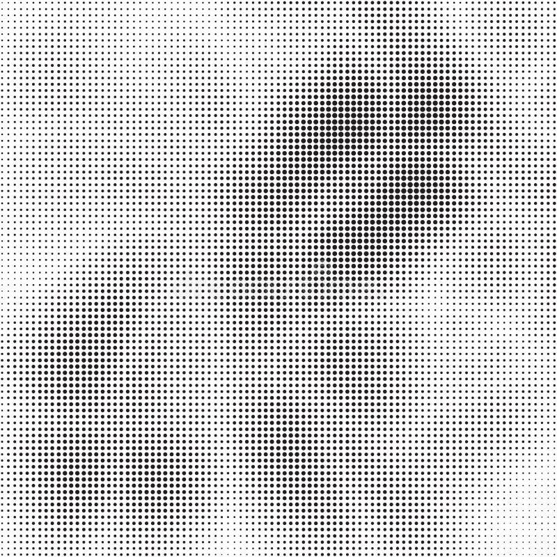抽象中间影调加点在传染媒介的背景纹理 向量例证