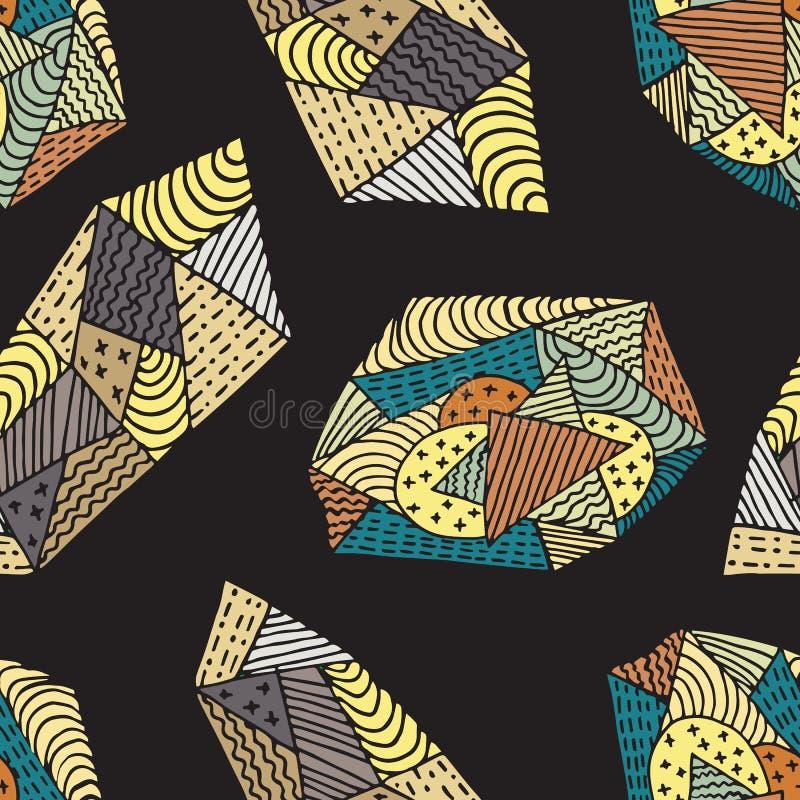 抽象乱画样式颜色 库存例证