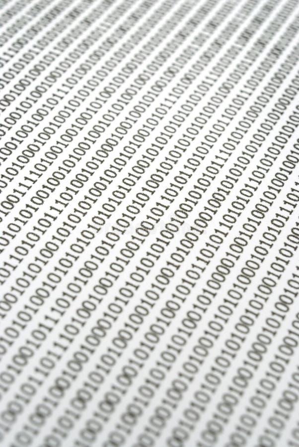 抽象二进制代码 图库摄影
