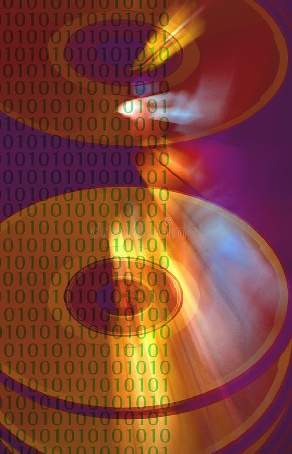 抽象二进制数据 向量例证