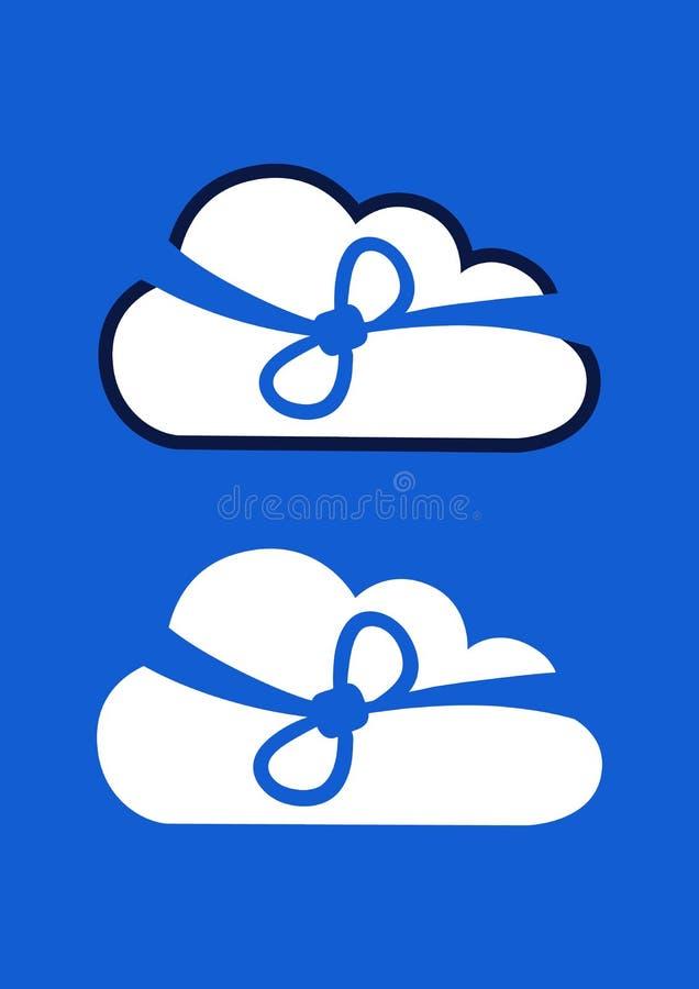 抽象云彩技术在将来背景,传染媒介例证 向量例证