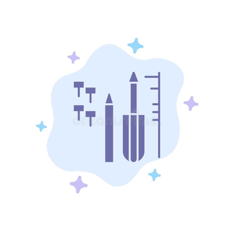 抽象云背景上的修复、定制、工程、设备蓝色图标 库存例证