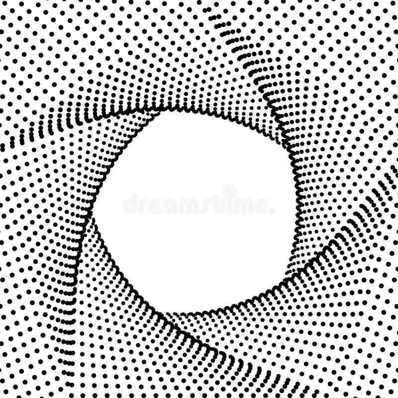 抽象五边形背景,半音黑分数维几何框架,未来派技术3D样式 向量 库存例证