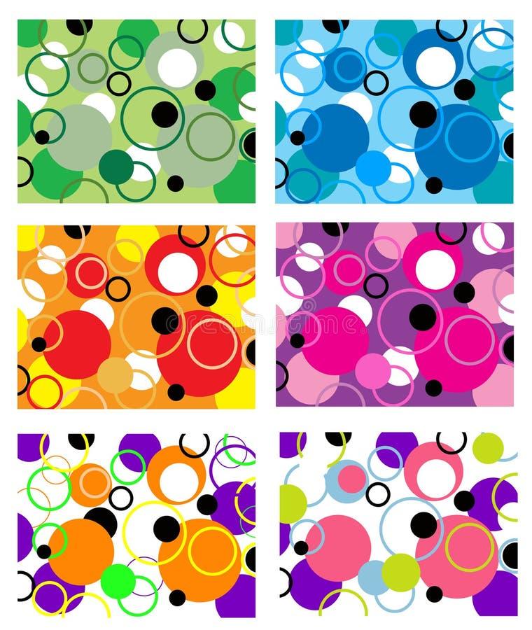 抽象五颜六色几何 库存例证