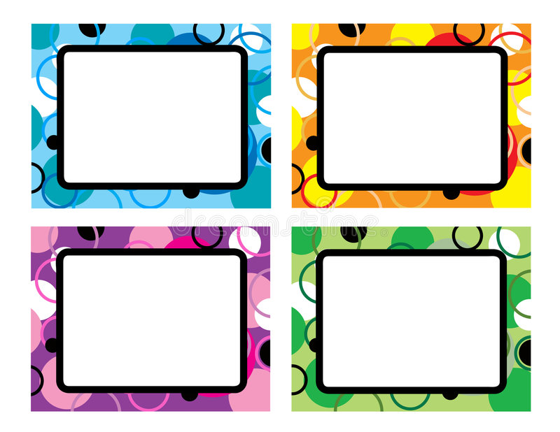 抽象五颜六色几何 向量例证