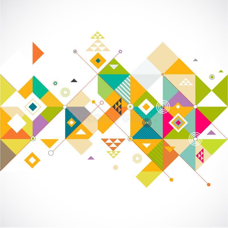 抽象五颜六色和创造性的三角背景、传染媒介&例证 向量例证