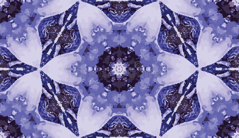 抽象五颜六色的万花筒无缝的样式 几何花卉传染媒介背景 马赛克azulejo坛场图表样片 皇族释放例证