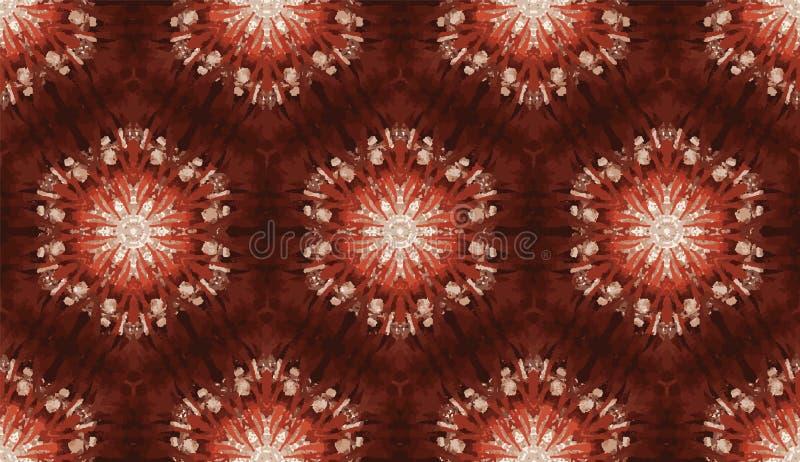 抽象五颜六色的万花筒无缝的样式 几何花卉传染媒介背景 马赛克azulejo坛场图表 库存例证