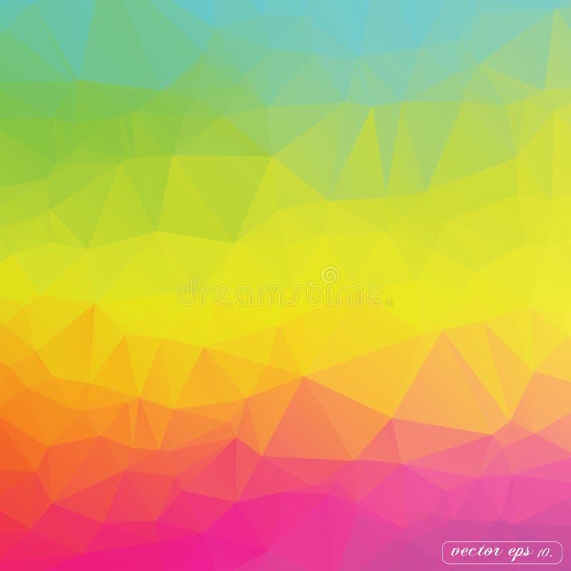 抽象五颜六色的三角几何传染媒介背景例证eps10 库存例证