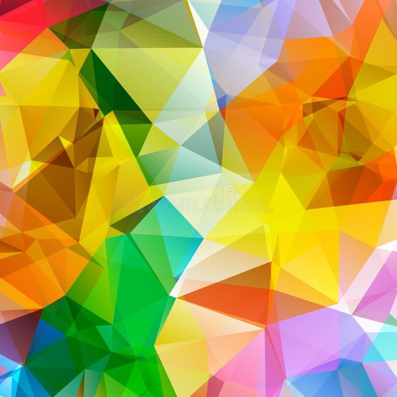 抽象五颜六色的三角多角形背景 向量例证
