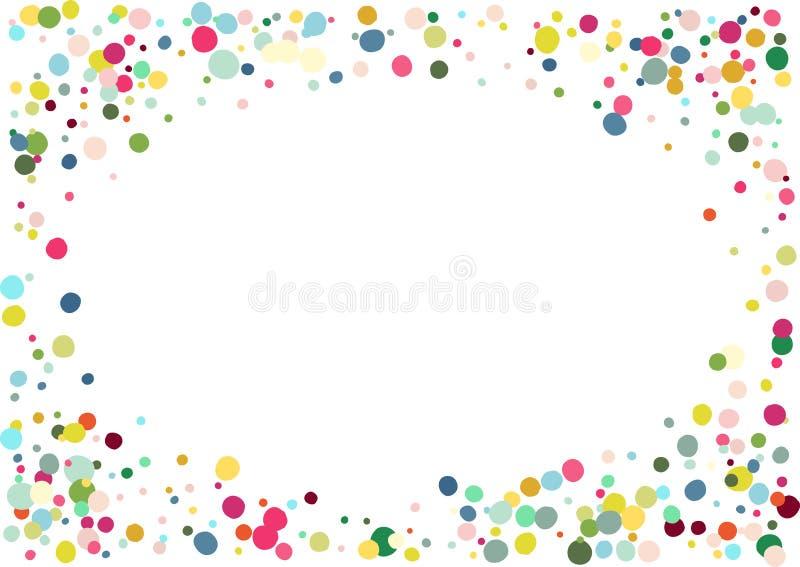抽象五颜六色的五彩纸屑背景 查出在白色 传染媒介假日例证 库存例证