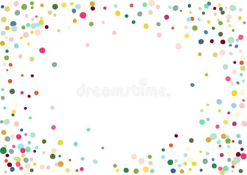 抽象五颜六色的五彩纸屑背景 查出在白色 传染媒介假日例证 向量例证