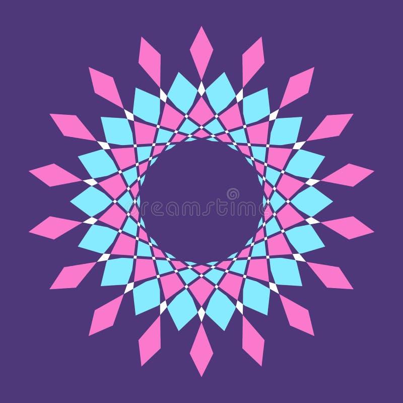 抽象五颜六色的传染媒介圈子框架 皇族释放例证