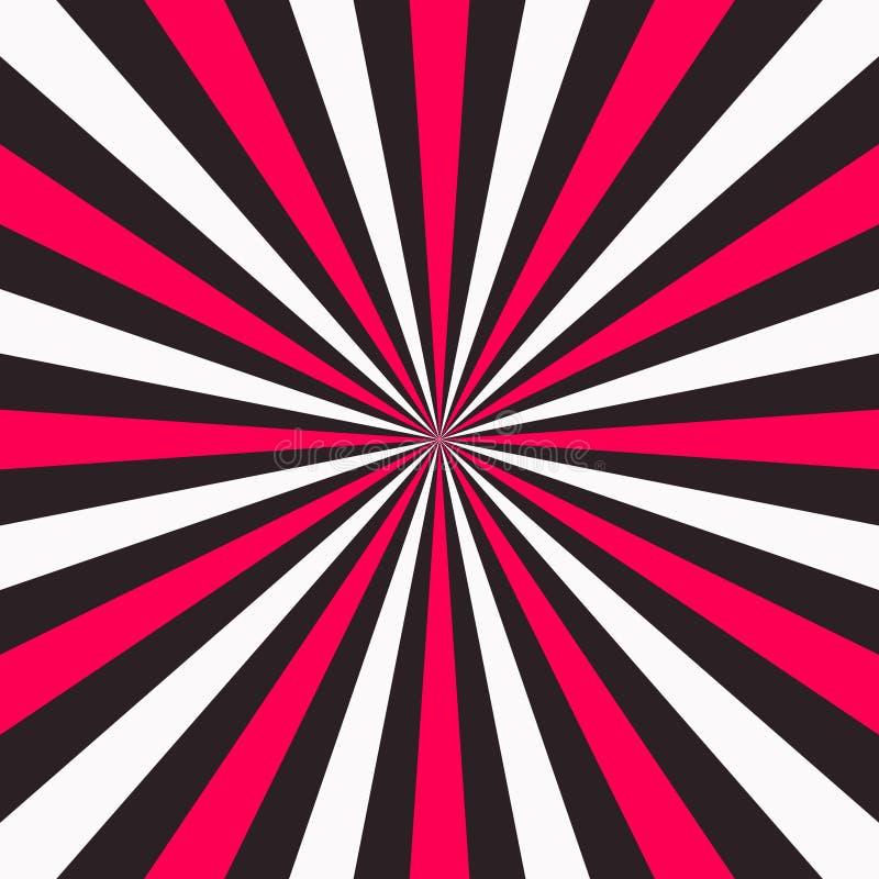 抽象五颜六色的光芒背景 向量 皇族释放例证