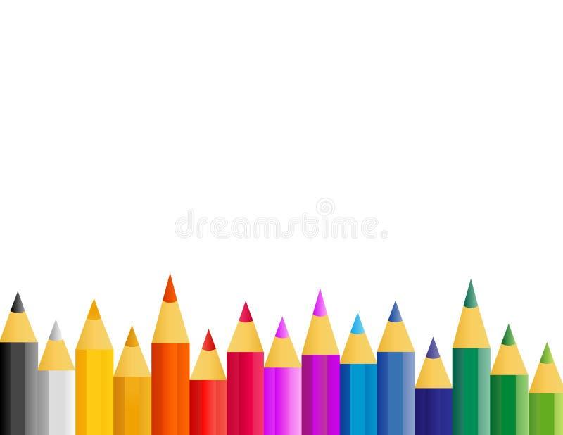 抽象五颜六色的减速火箭的向量 库存例证