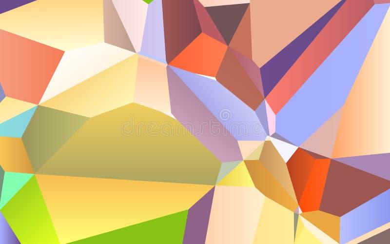 抽象五颜六色的几何三角背景,多角形设计 向量例证
