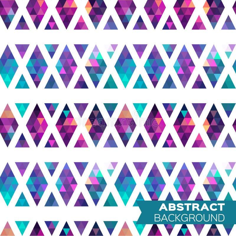 抽象五颜六色的几何三角背景 向量例证