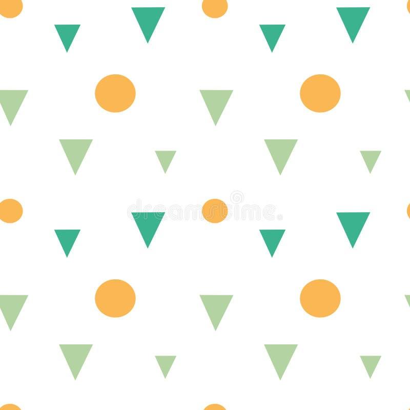 抽象五颜六色的几何形状三角和圈子无缝的样式背景例证 向量例证