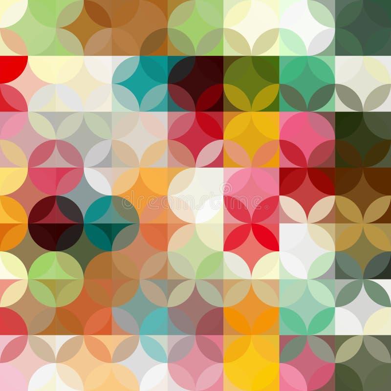 抽象五颜六色的几何背景 皇族释放例证