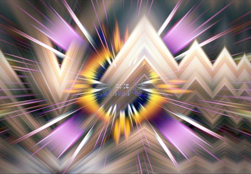 抽象五颜六色的分数维形象艺术背景 向量例证